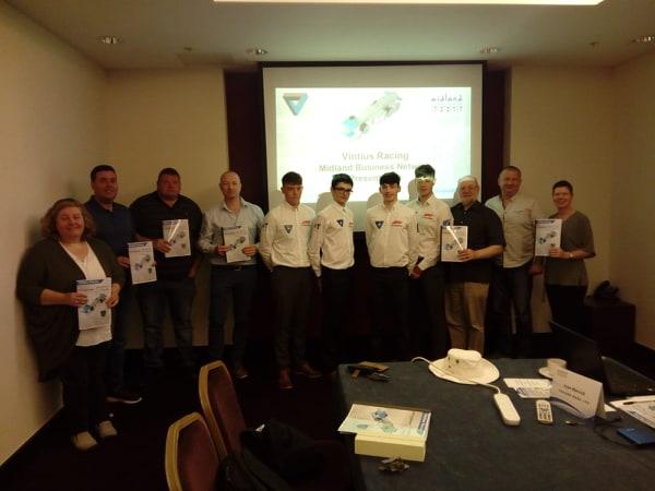 Vintius Racing Team visit to MBN